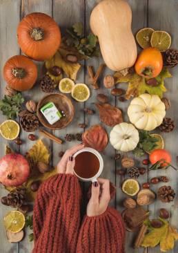 autunno tisana truvia eridania stevia senza zucchero
