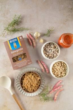 Foto pasta fagioli De Cecco